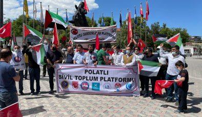 POLATLI'DA İSRAİL PROTESTOSU
