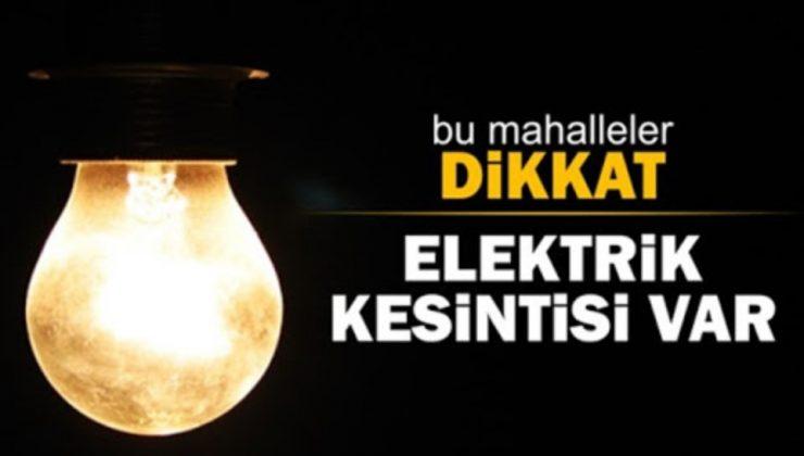 38 MAHALLEDE ELEKTRİK KESİNTİSİ