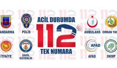 TÜM ACİL ÇAĞRILAR '112'DE TOPLANDI